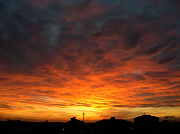 A Sunset over Tortona, Italy.