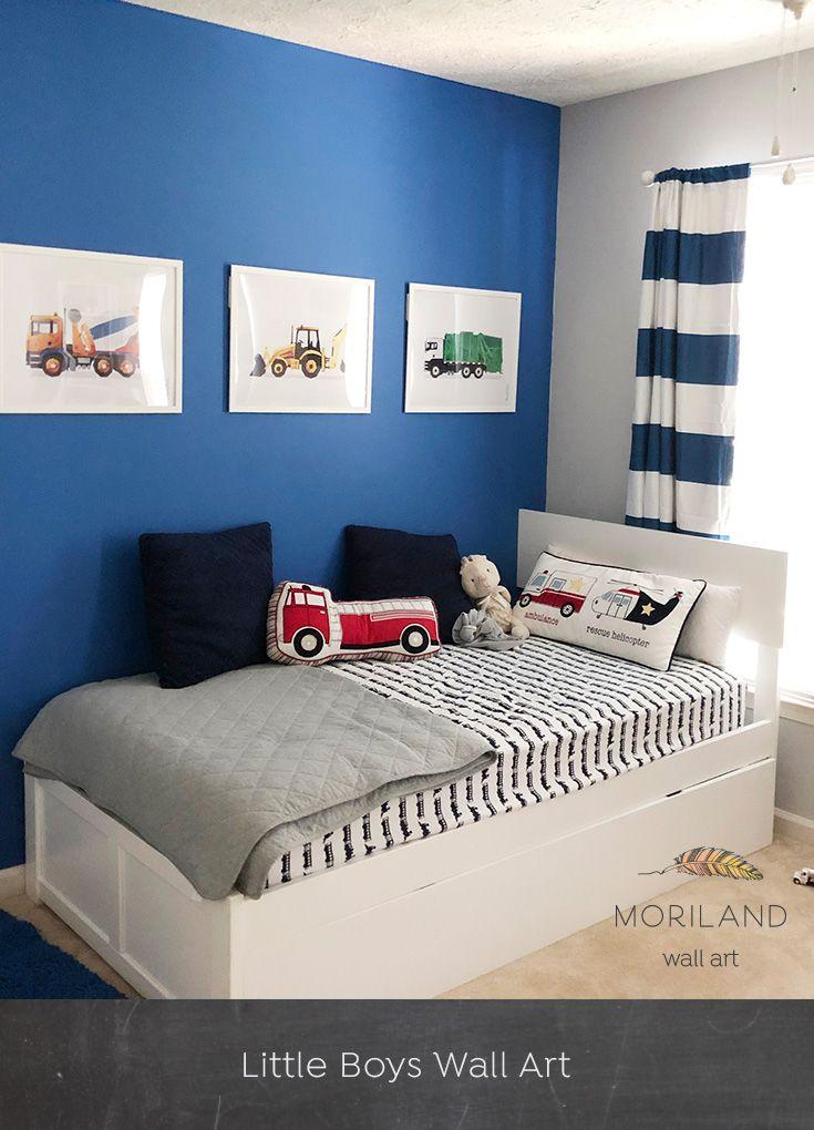 Green Garbage Truck Print Printable Art Toddler Boy Room Decor