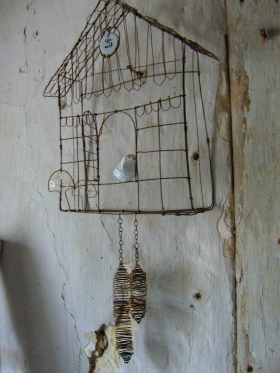 Cuckoo in wire Original model Made with order by Debeauxsouvenirs