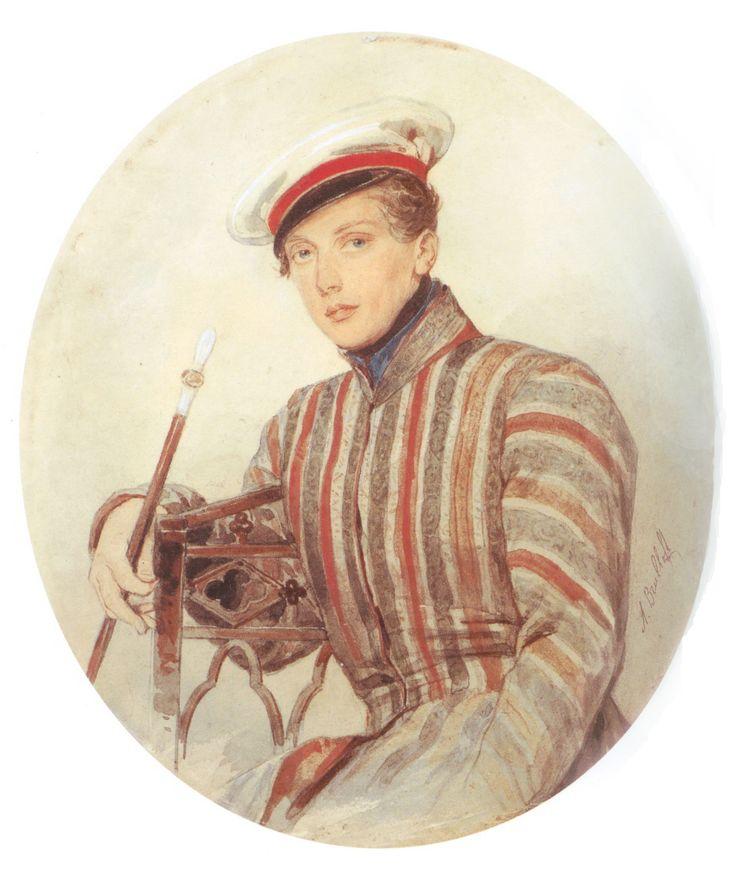 via Moika Palace:  Portrait of His Serene Highness Prince Alexander Suvorov by Alexander Briullov, 1830.
