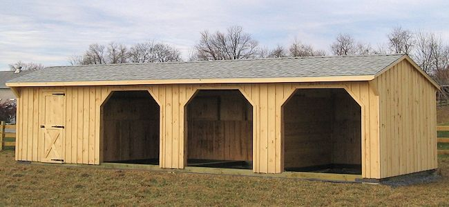 Modular run in shed barns with living quarters for Prefab barns with living quarters