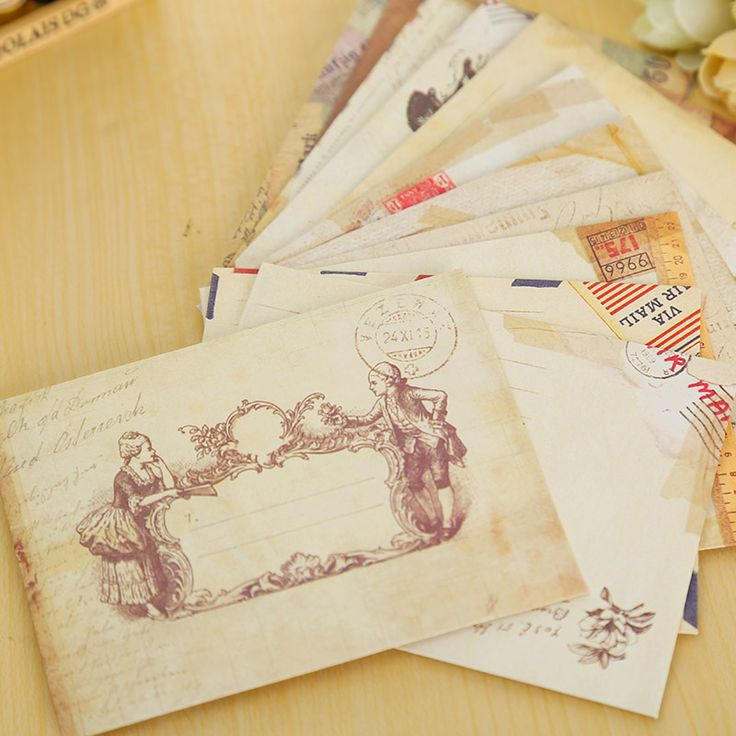 12 unids/lote vintage mini sobre de papel scrapbooking sobres sobres pequeños kawaii papelería regalo