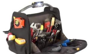Heating and Cooling Technician Tool Bag Handle  CLC Tech Gear