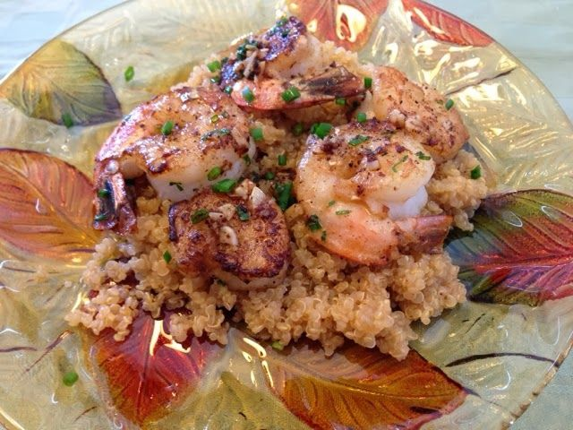 Heather's Helpings: Garlic Butter Shrimp and Quinoa. | Food and ...