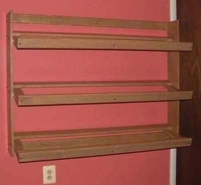 How To Make Slanted Shelves Cavebear S Lair Shoe Rack