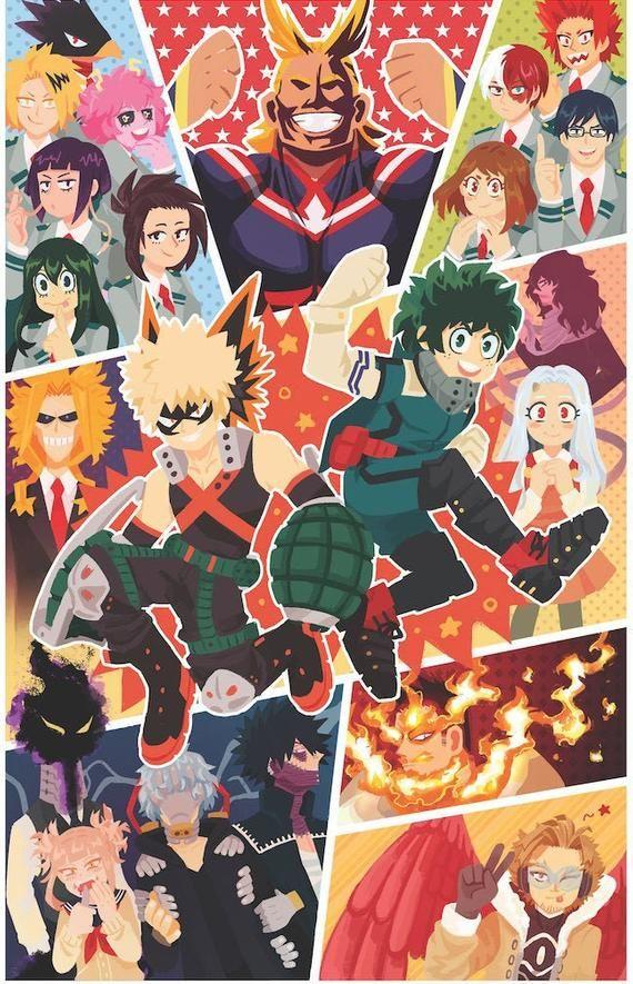 Bnha Print Hero Wallpaper My Hero Cute Anime Wallpaper