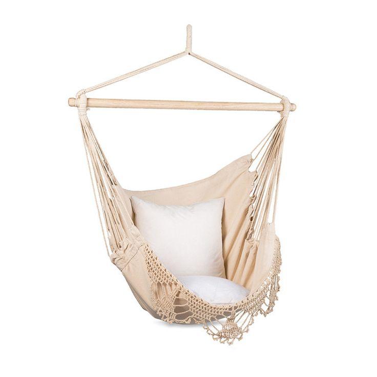 Macrame Natural Hammock Hanging Chair by Citta Design   Citta Design