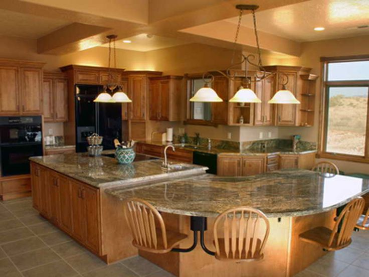 An Oddly Shaped Kitchen Island: L-shaped Kitchen Island With Seating Is One Of The Home