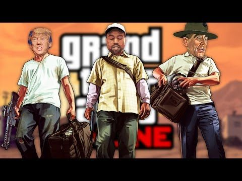 DONALD TRUMP, KANYE WEST and DRILL SERGEANT Play GTA ONLINE! - YouTube