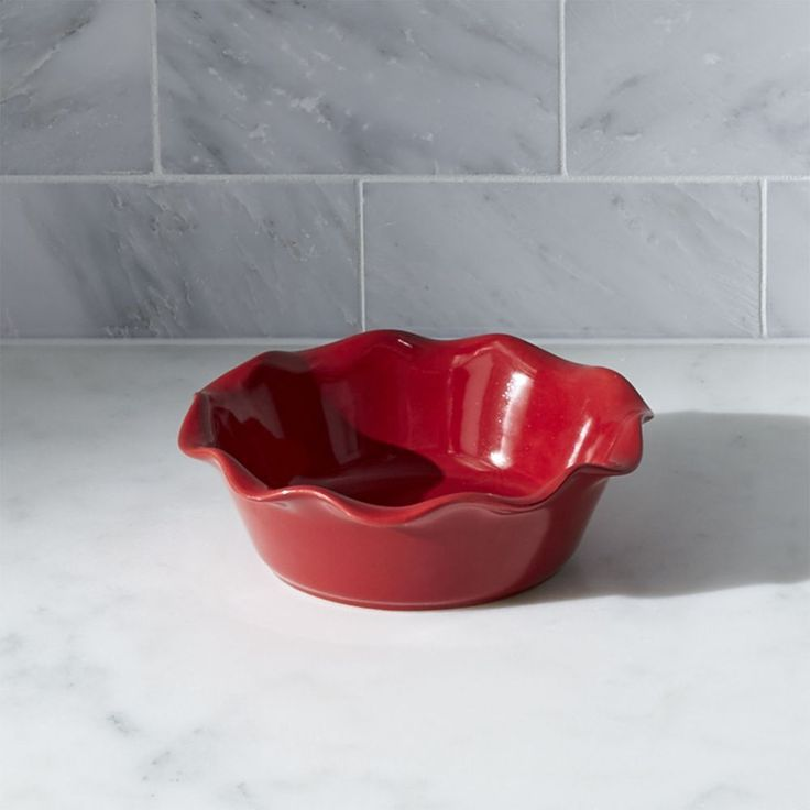 Red Ruffled Individual Pie Dish - Crate and Barrel