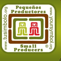 What is the Small Producers' Symbol?  A distinction that identifies organized small producers in Latin America and the Caribbean, and that permits consumers to recognize their products on the market.  The symbol represents the high quality of products from organized small producers, based on their work to promote dignified living in their communities, local economies, and the health and environment of producers and consumers.