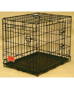 Titan Double Door 42-inch Folding Dog Crate  $100.99