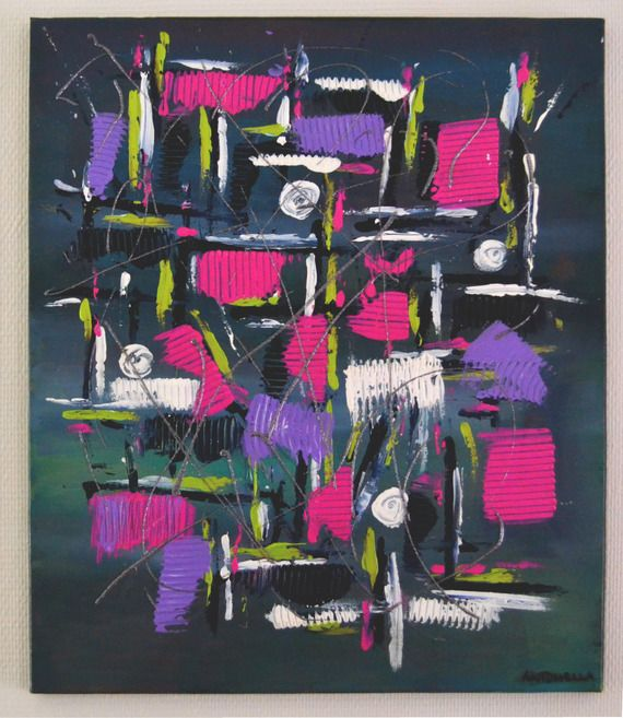 tableau moderne abstrait color tableau contemporain original moderne mauve rose - Tableaux Modernes Colors