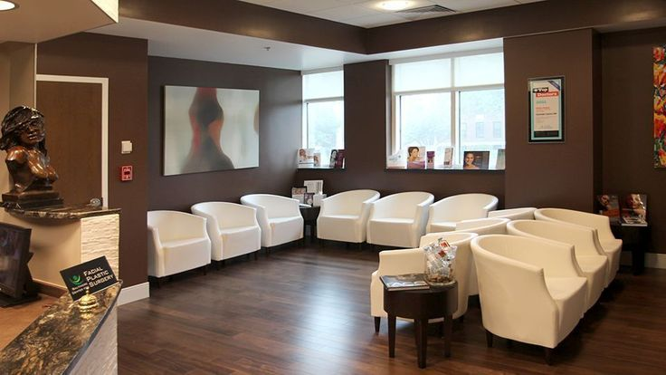 Baltimore Center for Facial Plastic Surgery, Medical Office Waiting Area with contemporary design