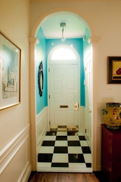 A Fun Paint Color For A Narrow Entry Hall Is Great To Open