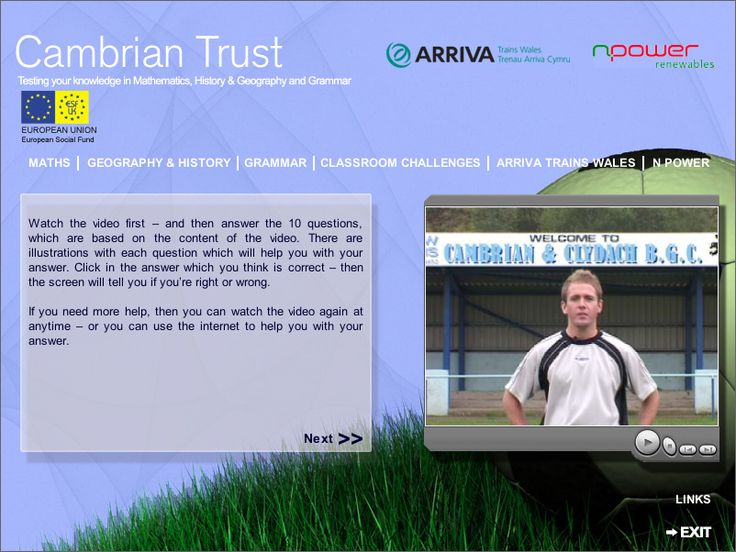 Cambrian Trust educational interactive CD-ROM created by Genieseye in association with Arriva Train Wales and NPower. Educational CD-ROM