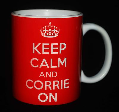 Keep Calm AND Corrie ON Carry ON Gift MUG CUP Coronation Street KEN Deidre FUN | eBay