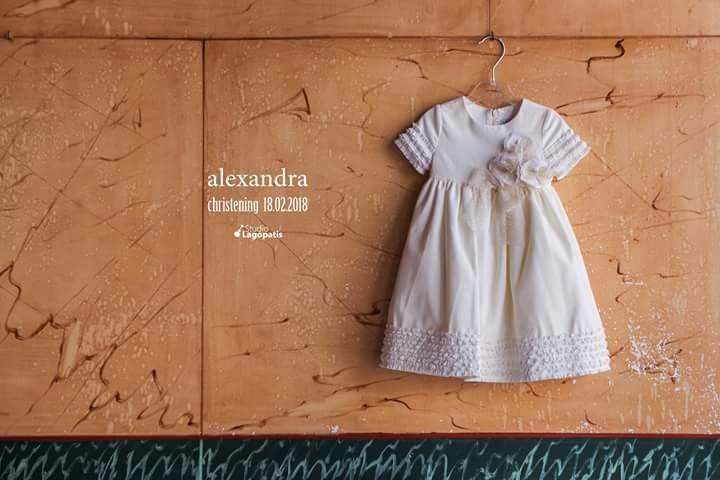 Alexandra's #christeningdress // #Sunday 18.02.2018 #christening #baptism #babygirl #christeningphotography  #details #socute www.lagopatis.gr