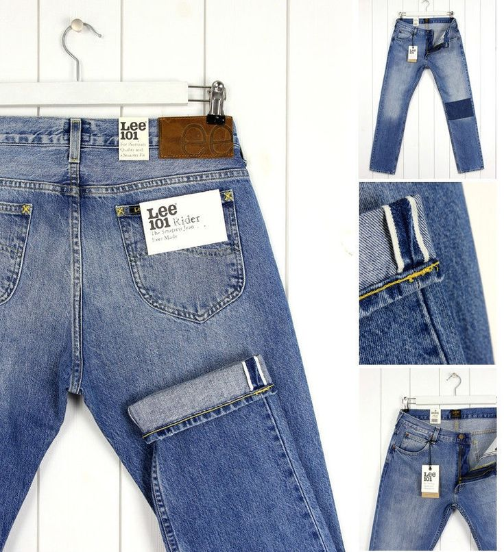 NEW  LEE 101 RIDER 13Oz  DENIM  JEANS SELVAGE TAPERED  SLIM  FIT_ ALL SIZES