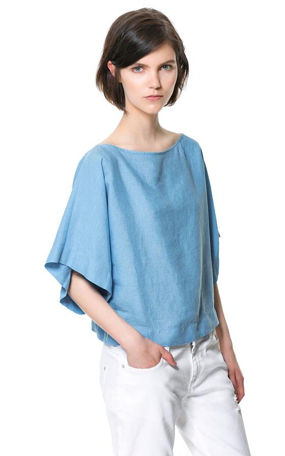 KIMONO SLEEVE TOP | My Style...Pure Me! | Tunic tops, Zara ...