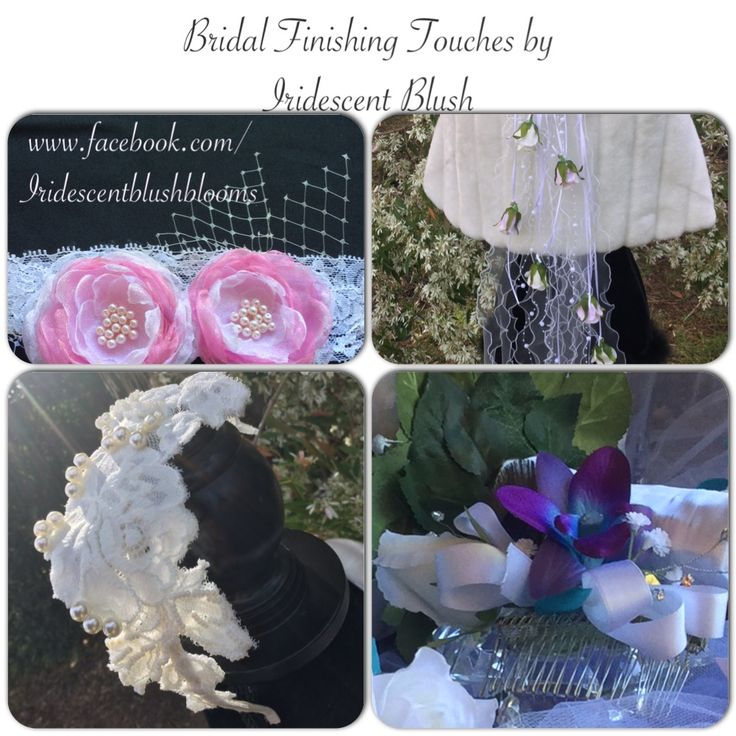 "Veils and hair accessories by Leeanne ✿⊱╮ Iridescent Blush ""The Bride's Finishing Touches!"" ~Message Me for Custom Orders~ m.me/IridescentBlush"