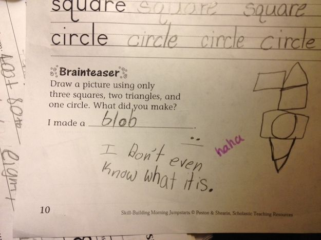 They put on no airs. | The 28 Funniest Notes Written By Kids In 2013