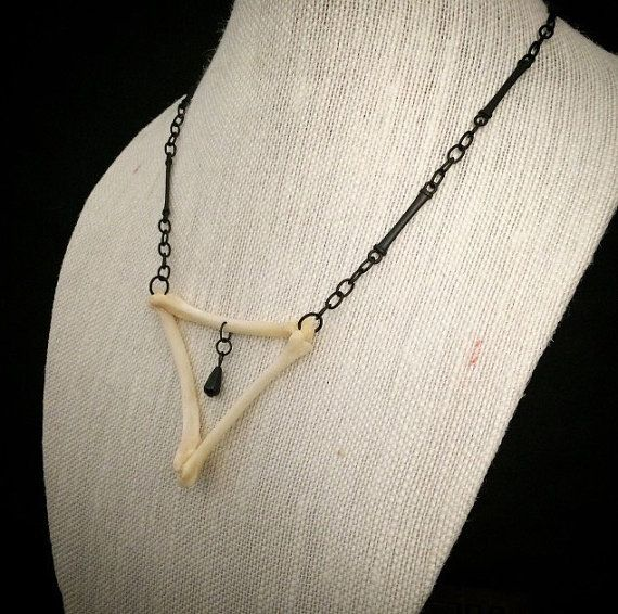 Animal bone necklace // gothic necklace // by OnceMagnificent