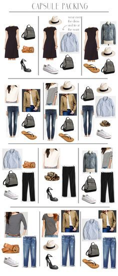 Great travel wardrobe, though switch the jeans for a skirt for max flexibility.