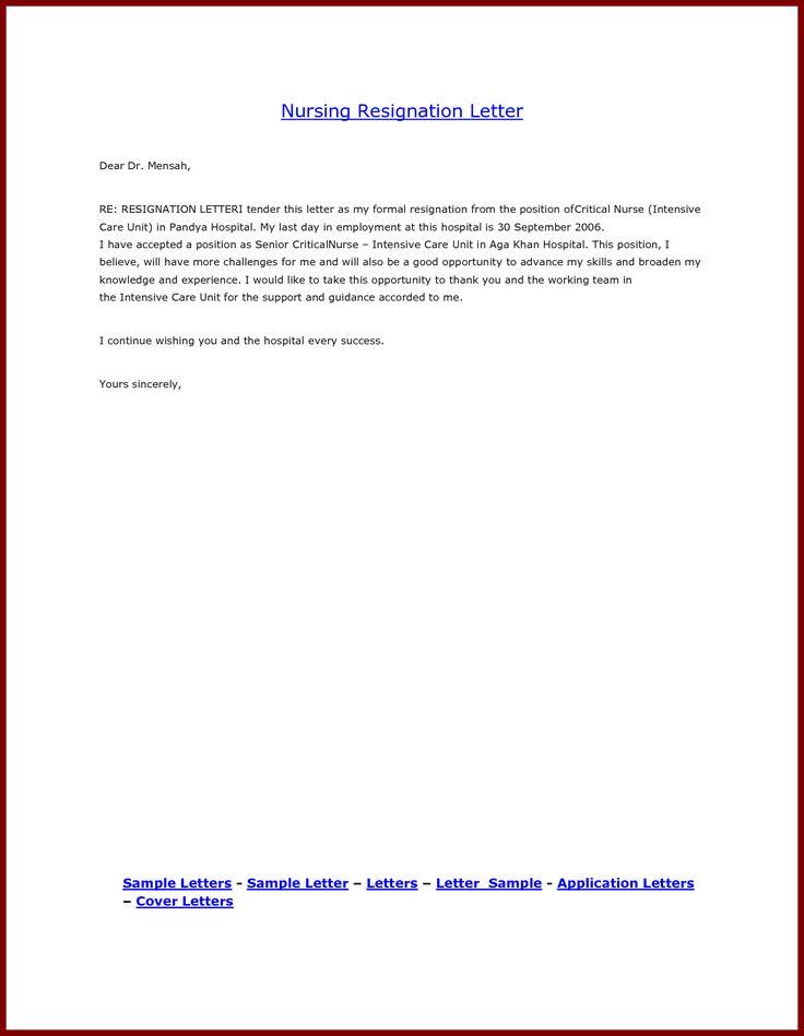 Die Besten  Kndigungsbrief Format Ideen Auf