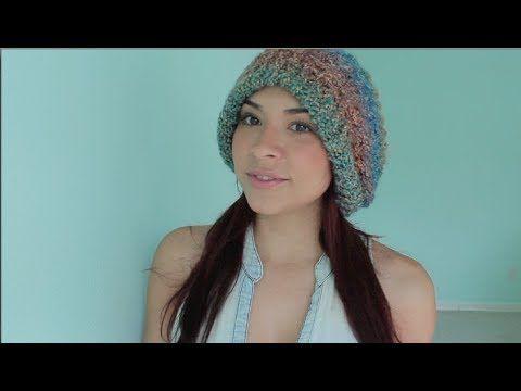 Cómo tejer un cuello - capucha en telar circular - YouTube