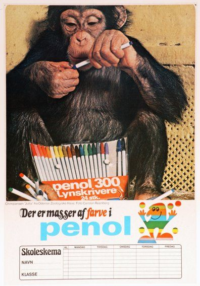 These markers (Penol from Denmark) were my favorites when I grew up. I miss them!