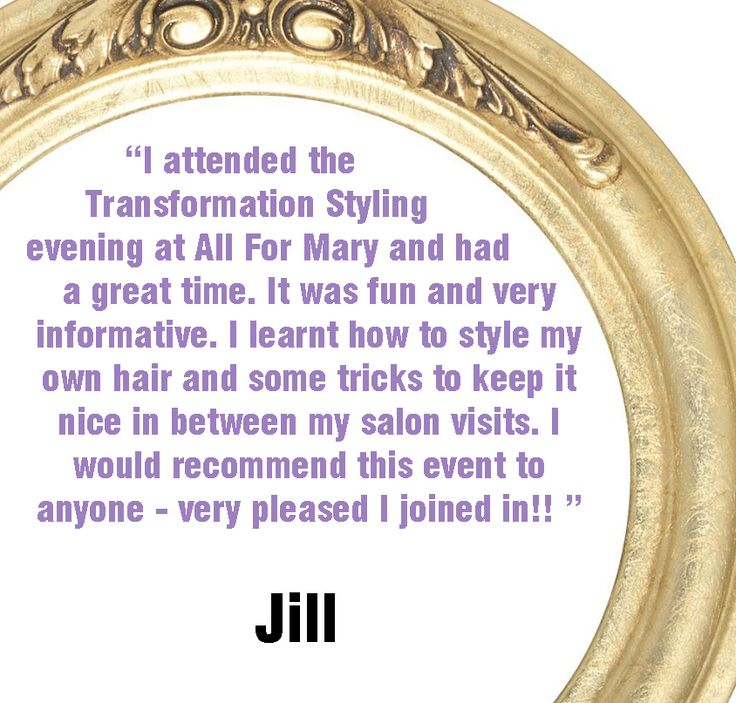 For your own Transformation Styling Hair Event experience at All For Mary visit http://www.allformary.com/salon-services/transformation-styling-hair-event-with-all-for-mary. All For Mary - Redefining the salon experience www.allformary.com