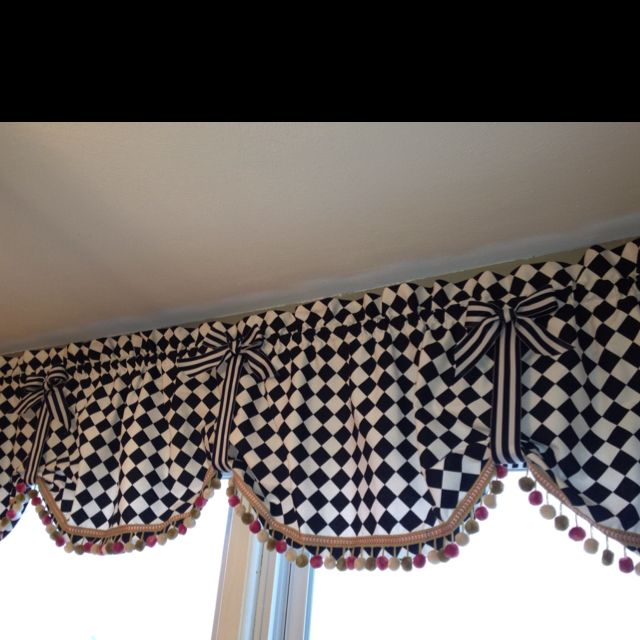 My Mackenzie Child's inspired kitchen curtains my mother in law made me!