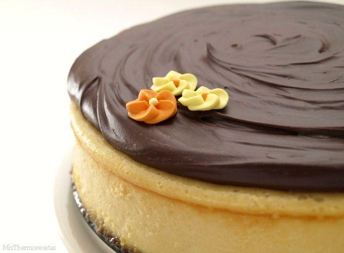 Cheesecake de Baileys con chocolate - MisThermorecetas