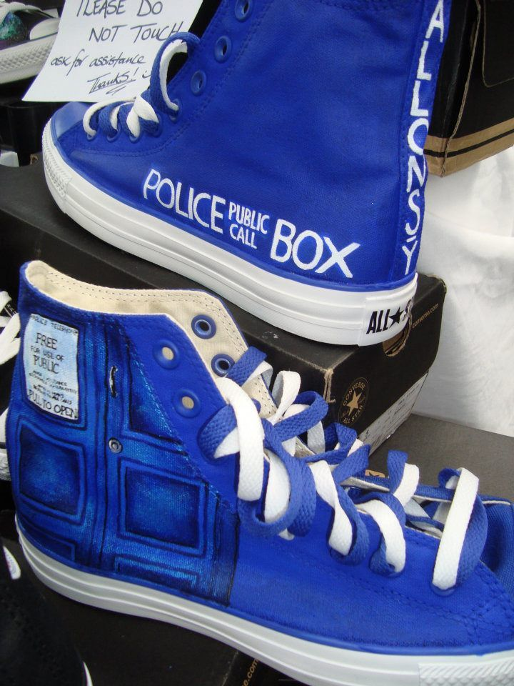 Doctor Who TARDIS High Top Converse