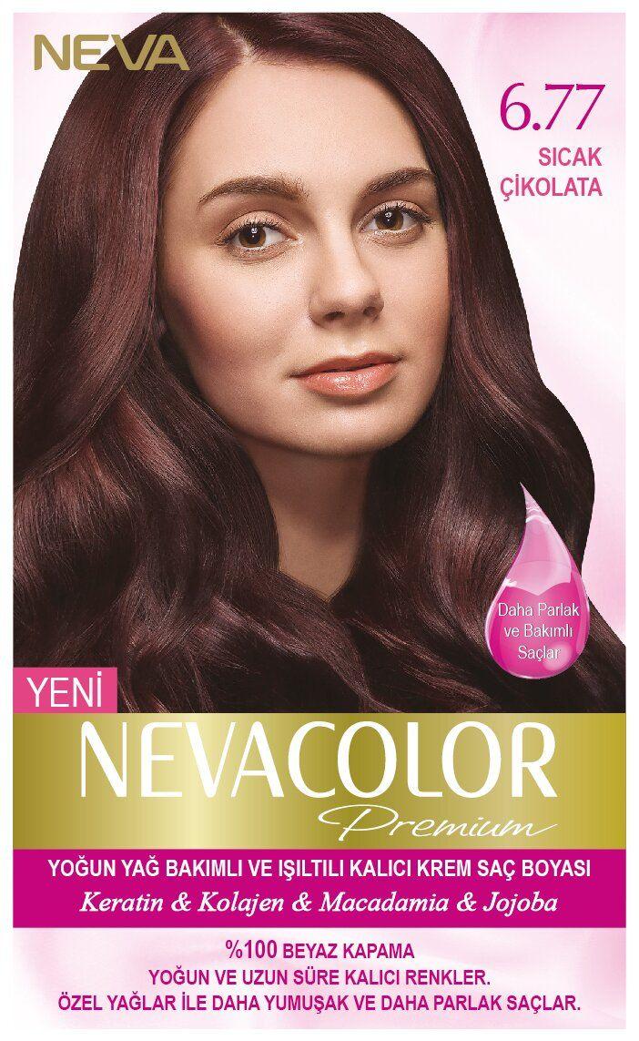 Neva Color Premium Sac Boyasi 6 77 Sicak Cikolata Kolajen Sac