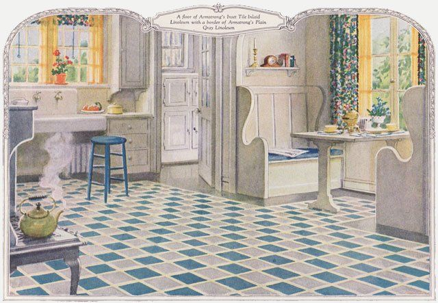 1924 armstrong linoleum ad for kitchen   1920s kitchens and essentials 1924 armstrong linoleum ad for kitchen   1920s kitchens and      rh   pinterest co uk