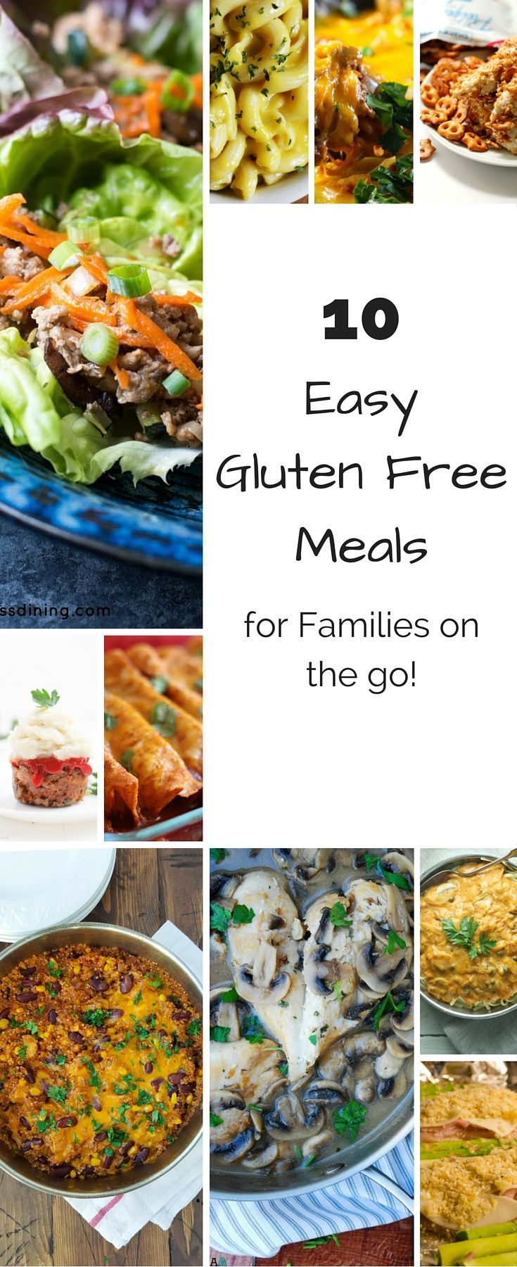 10 Easy Gluten Free Meals for Families on the Go