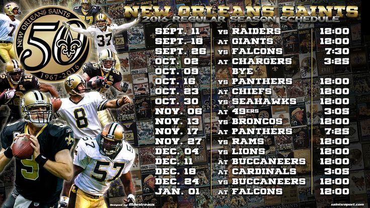 2016 new orleans saints schedule wallpaper
