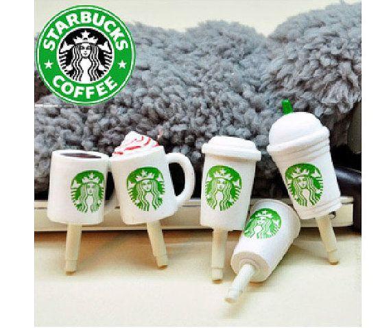 Starbuck Coffee Sundae Latte Frappuccino Milk Tea Cup Dust Plug 3.5mm Phone Plug iPhone 4 4S 5 5S 6 Samsung Charm Headphone Jack Ear Cap