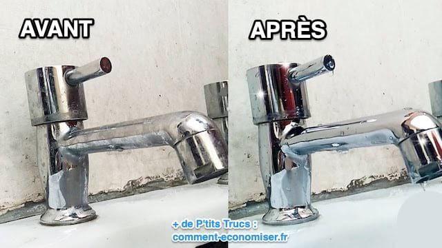 3 Astuces Qui Marchent Pour Detartrer Les Robinets Sans Effort Comment Nettoyer Enlever Le Calcaire Nettoyant