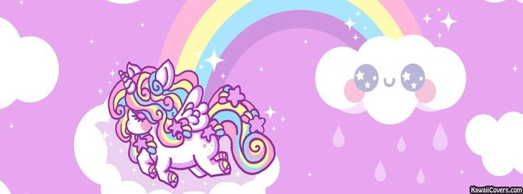 Girly unicorn fb cover kAwAiI | Facebook covers ...