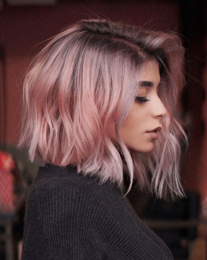 Hot Shot Bob Lob Finalists 2019 Behindthechair Com Cool Hair Color Hair Styles Pastel Pink Hair