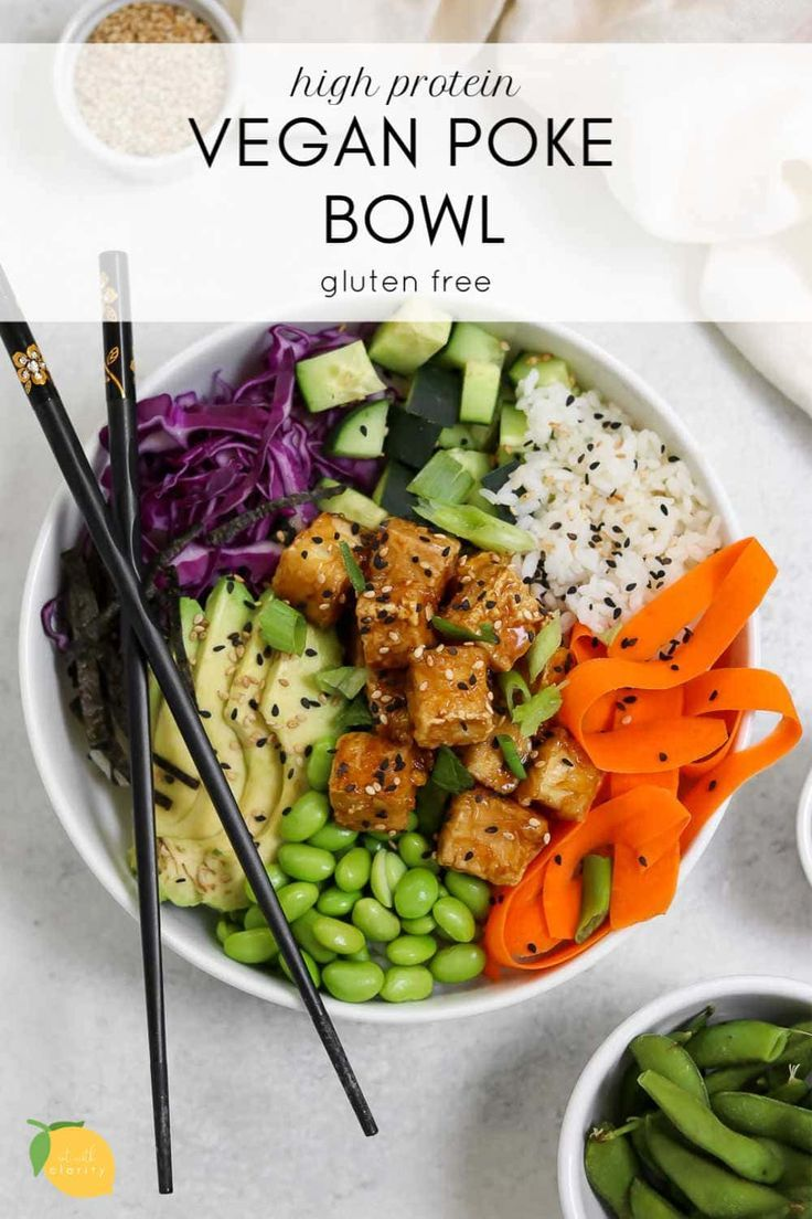 Vegan Poke Bowl With Teriyaki Tofu