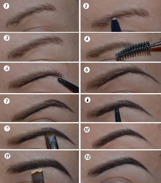eyebrow tutorial for long eyebrows