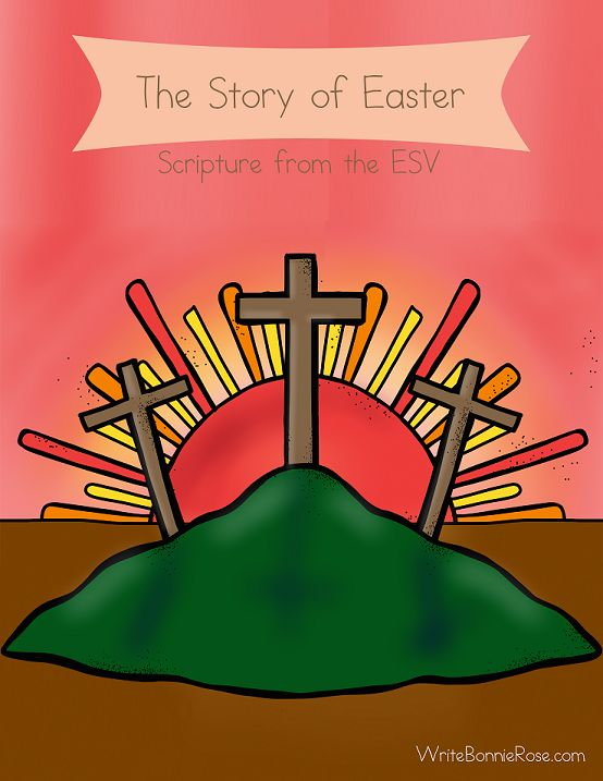 The Story Of Easter Coloring Book Shares Through Nineteen Pages With ESV Bible Verses In Large Print To Trace