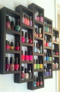21 Wooden Nail Polish Rack