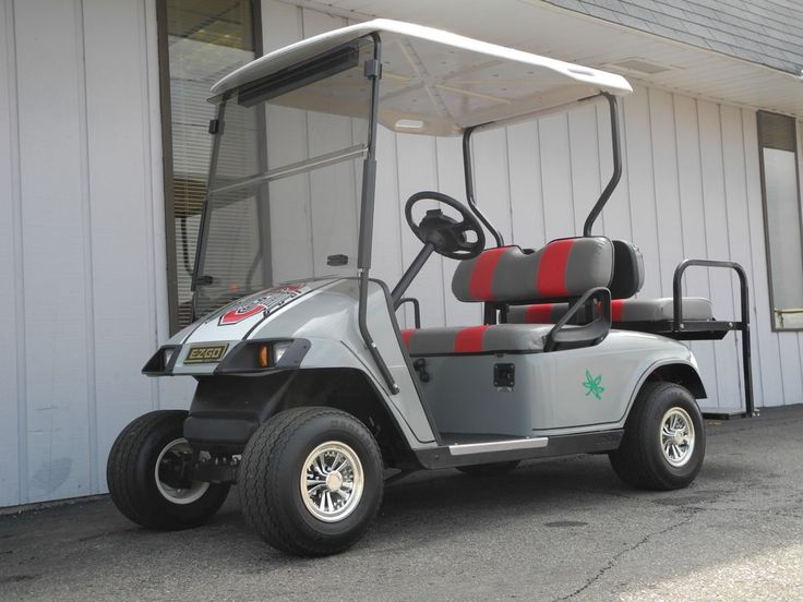 Attention OSU fans, this custom scarlet and gray 2004 E-Z-GO electric golf car is just $3690. See more at: http://www.powerequipmentsolutions.com/products-a-services/online-store/used-golf-carts/e-z-go-golf-carts/e-z-go-electric-golf-carts/2004-e-z-go-osu-buckeyes-custom-electric-golf-car.html  #EZGO #golfcar #OSU #Buckeyes #customgolfcar #PES #Vandalia