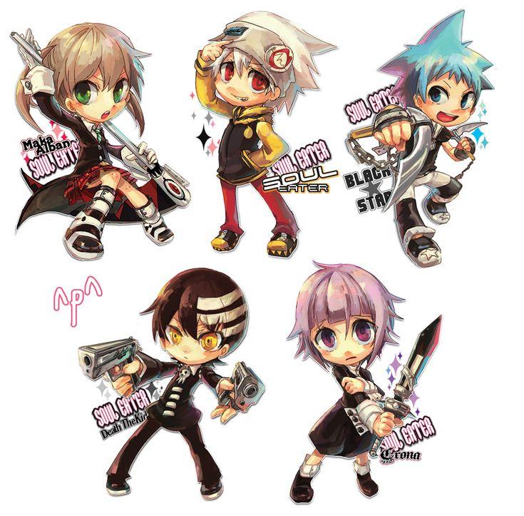 chibi soul eater characters