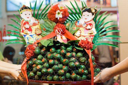 Regalo tradicional de parte del novio en una boda vietnamita